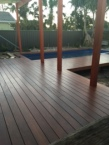 Roof and decking in front of house